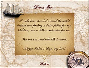 Printable card. For the father of my children