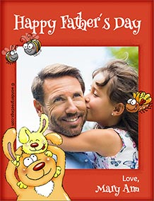 Printable card. Happy Father´s Day