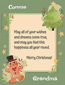 Printable card. Merry Christmas