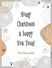 Printable card. Merry Christmas & happy New Year!