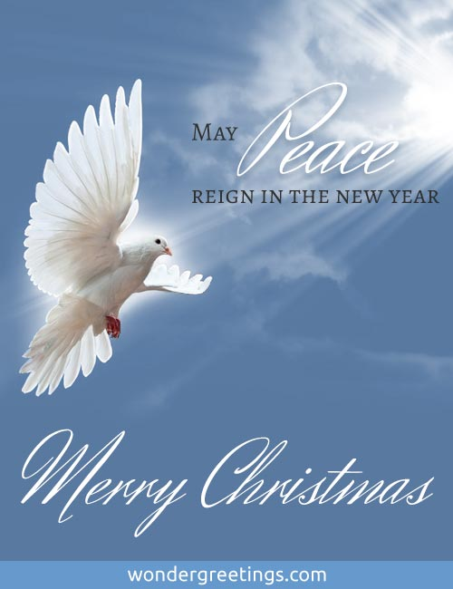 May Peace reign in the new year.<BR>Merry Christmas