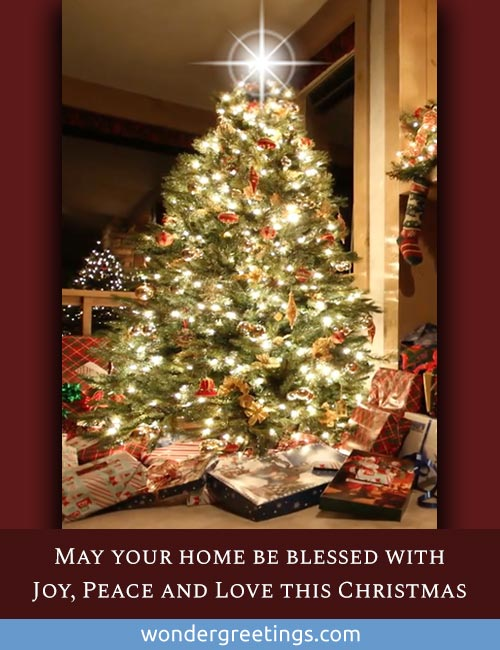 May your home be blessed with Joy, Peace and Love this Christmas.