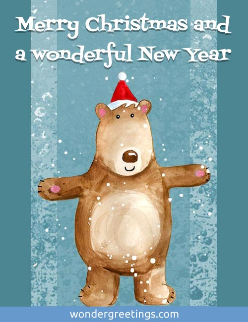 Merry Christmas and wonderful New Year