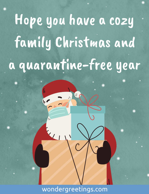 Hope you have a cozy family Christmas and a quarantine-free year