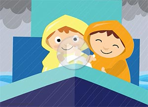 Friendship ecard. Going through the storm together