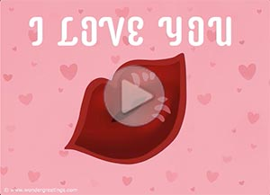 Love ecard. Sending you a virtual kiss