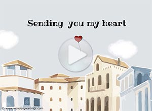Love ecard. Sending  you my heart