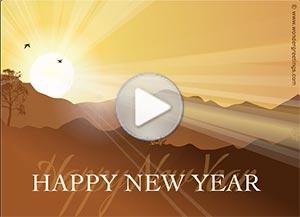 Imagen de New year para compartir gratis. May God lead you along