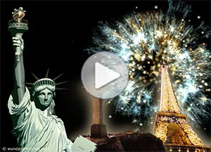Imagen de New year para compartir gratis. New Year around the world