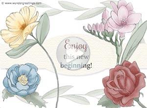 Imagen de New year para compartir gratis. A new beginning