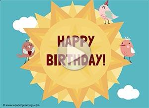 Birthday ecard. Sending you sunshine and love