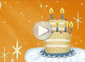 Birthday ecard. May all your dreams come true