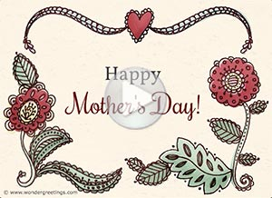 Mother's Day ecard. Love and joy