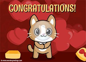 Congratulations ecard. A little gift to you