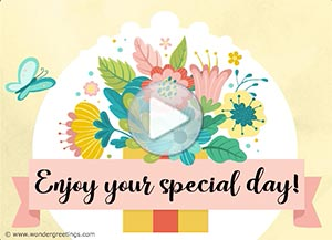 Mother's Day ecard. The gift of the Present