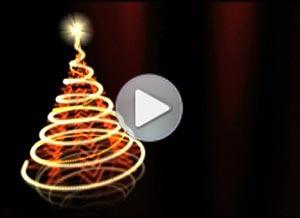 Christmas ecard. A bright Christmas