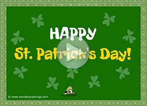 St. Patrick ecard. Let's get drunk (Irish toast)