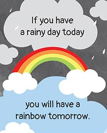 If you have a rainy day today, 