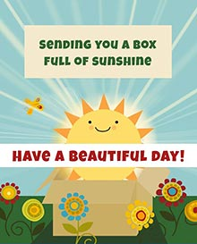 Sending you a box full of sunshine. <BR>Have a beautiful day!
