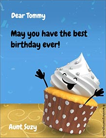 Printable card. Cupcake