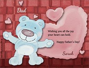 Printable card. Love and joy