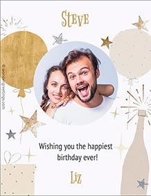 Printable card. The happiest birthday ever