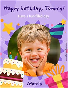 Printable card. A fun-filled day