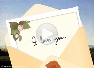 Love ecard. A love letter for you