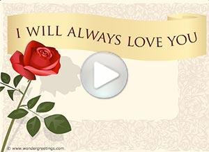 Love ecard. I will always love you