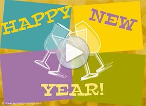 Imagen de New year para compartir gratis. Toast to a happy new year