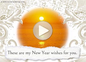 Imagen de New year para compartir gratis. My New Year wishes for you