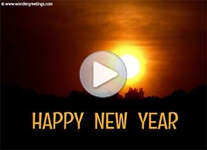 Imagen de New year para compartir gratis. A new sunrise