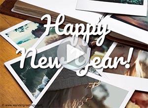 New Year ecard. 365 happy memories