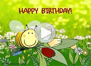 Birthday ecard. A day as special as you are
