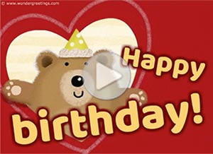 Birthday ecard. For someone special