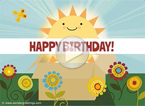 Birthday ecard. Sending you a box full of sunshine