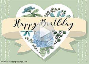 Birthday ecard. Best wishes