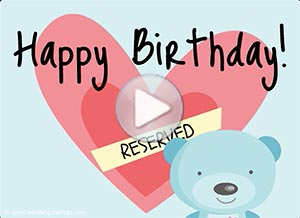 Birthday ecard. You have a place in my heart