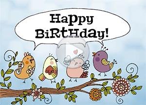 Birthday ecard. Wishing you the very best