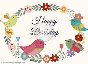 Birthday ecard. Sending you lots of love