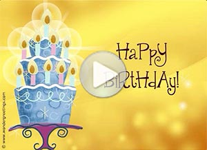 Birthday ecard. May all your wishes come true