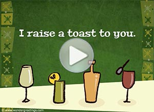 Birthday ecard. A toast to your health