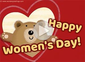 Imagen de Women's day para compartir gratis. Sending you a huge hug!