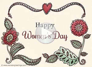 Imagen de Women's day para compartir gratis. Love and joy
