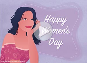 Imagen de Women's day para compartir gratis. Happy Women's Day