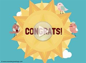 Imagen de Congratulations para compartir gratis. Sunshine and lots of love