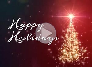 Christmas ecard. Happiness and success
