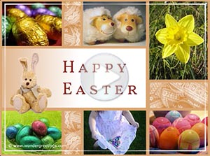 Easter ecard. Joys of Easter