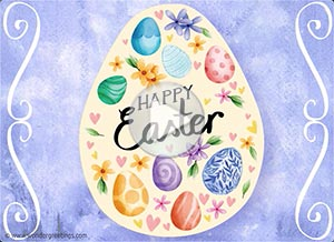 Easter ecard. Peace, hope and joy