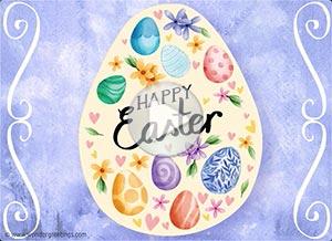Imagen de Easter para compartir gratis. Peace, hope and joy